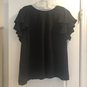 Plus-sized Rachel Roy Black Blouse 18W